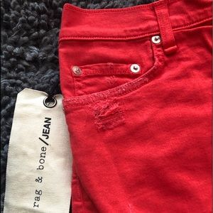 Rag and Bone red shorts